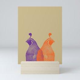 What the Quail Mini Art Print