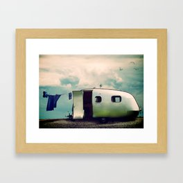 Holidays by the Seaside Framed Art Print