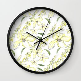 Floral Pattern Agrimony Wall Clock