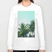 palm trees Long Sleeve T-shirts featuring Palm Trees by Sweet Karalina