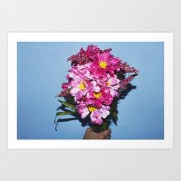 Hand Holding Flowers Art Print