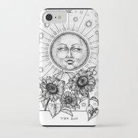 tarot iPhone & iPod Cases featuring Sun Tarot by Corinne Elyse