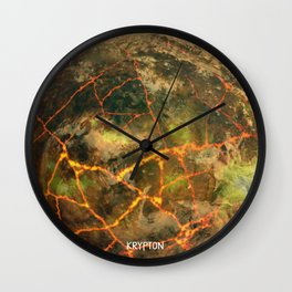 Krypton - Kryptonian Home World Wall Clock