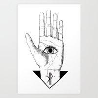 hamsa Art Prints featuring Hamsa by -KP-
