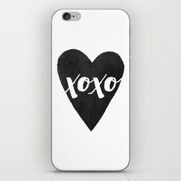 Watercolor XOXO - Jet iPhone Skin