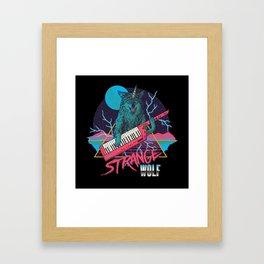 Strange Wolf Framed Art Print