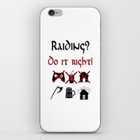 vikings iPhone & iPod Skins featuring Raiding 2, Vikings by ZsaMo Design