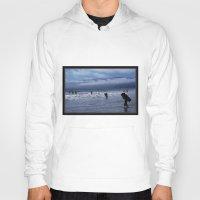 santa monica Hoodies featuring Santa Monica Surf by Willinok
