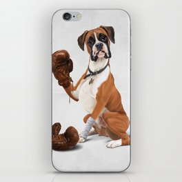The Boxer (Wordless) iPhone Skin