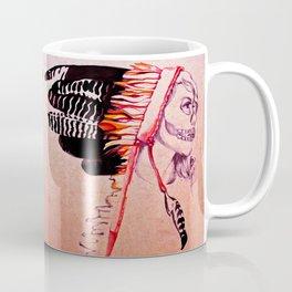 Girl with Skull and Headdress Coffee Mug