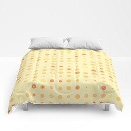 Orange polka dots Comforters