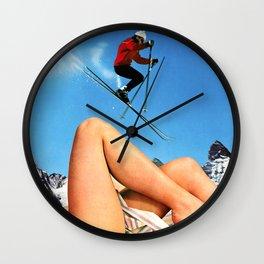Skiing Time! Wall Clock