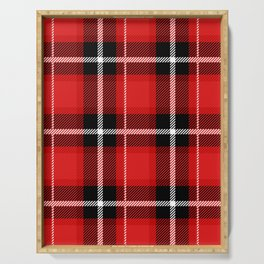 Red + Black Plaid Serving Tray