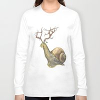 snail Long Sleeve T-shirts featuring Snail by Alesha