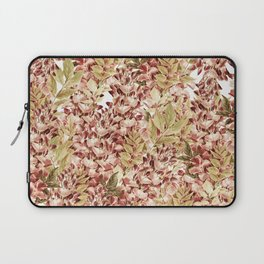 Vintage boho mauve pink dusty green floral Laptop Sleeve
