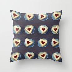 Linzer Cookies Throw Pillow