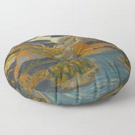 Canadian Landscape Oil Painting Franklin Carmichael Art Nouveau Post-Impressionism Grace Lake 1931 Floor Pillow