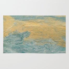 Copper Turquoise #03 Abstract Texture Rug