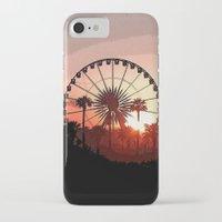coachella iPhone & iPod Cases featuring Coachella Sunset 2 by Lauren Haney
