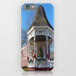 Gazebo & Courthouse Dressed for the Holidays iPhone Case