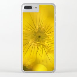 Yellow Bokeh Flower Clear iPhone Case