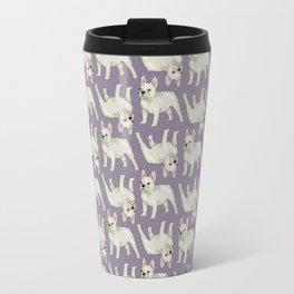 French Bulldog Dog Pattern (purple) Travel Mug