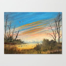 Evening Duck Hunters Canvas Print