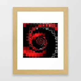 TGS Fractal Abstract in Red and Black Framed Art Print