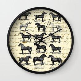 1895 Vintage Horse study Wall Clock