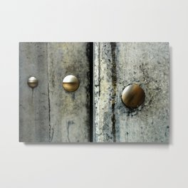 set in concrete Metal Print