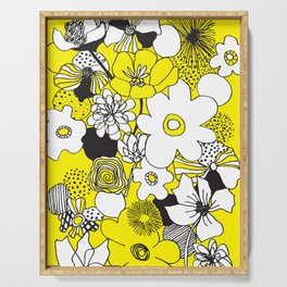 Floral Medley - Yellow Serving Tray