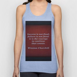 Winston Churchill Success Quote - Corbin Henry - Famous Quotes Unisex Tank Top