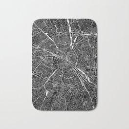 Paris Black Map Bath Mat