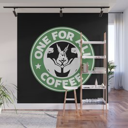 One For All Coffee Wall Mural