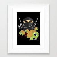 ninja turtles Framed Art Prints featuring Ninja Turtles by Adamzworld