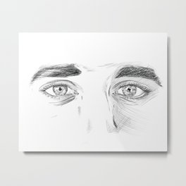 I see you - Eyes sketch Metal Print
