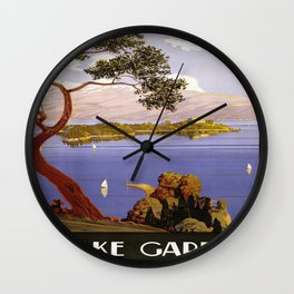 Vintage poster - Lake Garda Wall Clock