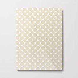 Small Polka Dots - White on Pearl Brown Metal Print
