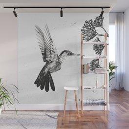 Humming Bird & Flower Wall Mural