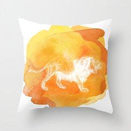 Color Spot Safari Lion Throw Pillow