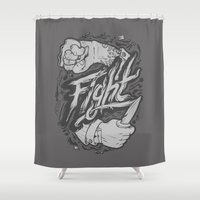 fight Shower Curtains featuring The Fight by Fightstacy