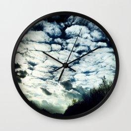 fluffy clouds freespirit Wall Clock
