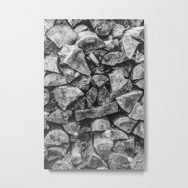 Woodpile | Firewood Stack Metal Print
