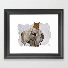 La Grande Dame, Couture Kitty Framed Art Print