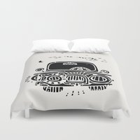 jeep Duvet Covers featuring Jeep by inktheboot