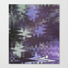 Purple Rain Glitch Canvas Print