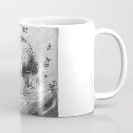 Manatee and fish by annmariescreations Coffee Mug