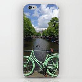 Amsterdam Green Bike - Greg Katz iPhone Skin