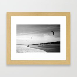 """OZ LAND"" kitesurf . kite . surf Framed Art Print"