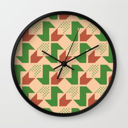 Clover&Nessie Lime/Orange Wall Clock